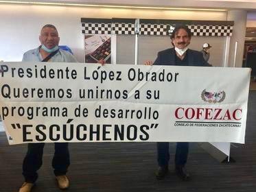 Guadalupe Gómez en protesta por la falta de apoyo oficial.