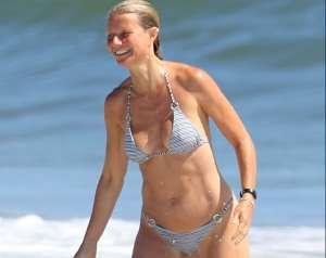 Completamente encuerada fue como la actriz de Hollywood, Gwyneth Paltrow, celebró su cumpleaños 48