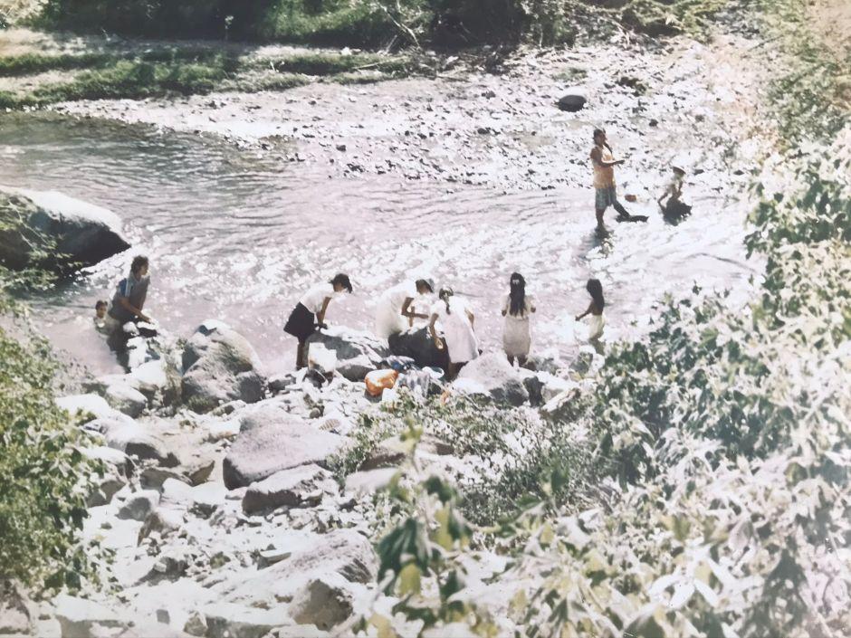 Vista panorámica del río Moctezuma, donde lavaban las mujeres.