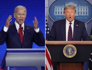 """Campaña de Trump quiere revisar oído de Biden porque teme que use audífonos para que le """"soplen"""" las respuestas"""