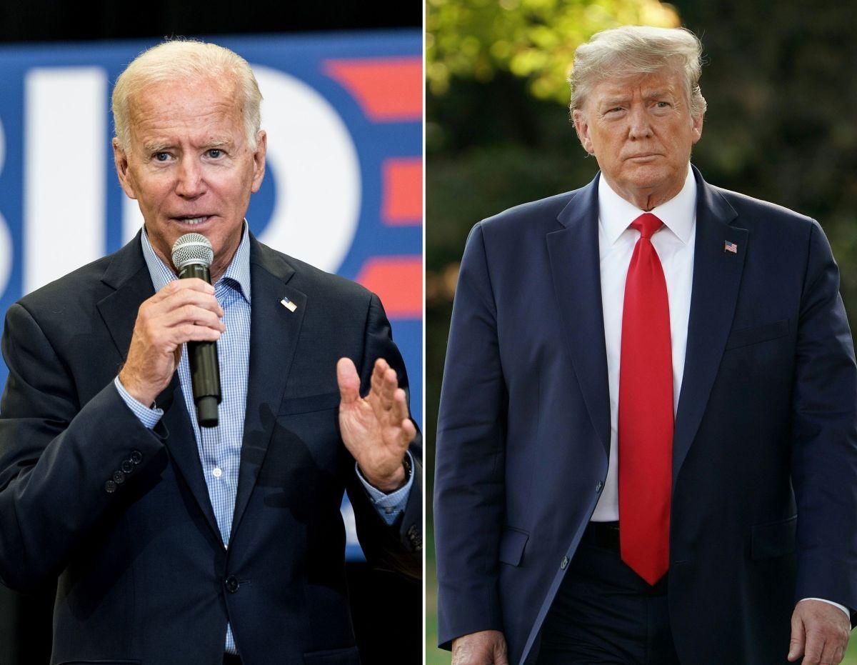 El exvicepresidente Joe Biden y el presidente Donald Trump.