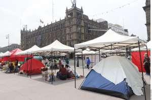 FRENAA, movimiento anti-AMLO lleva su plantón al Zócalo, exige la renuncia del presidente