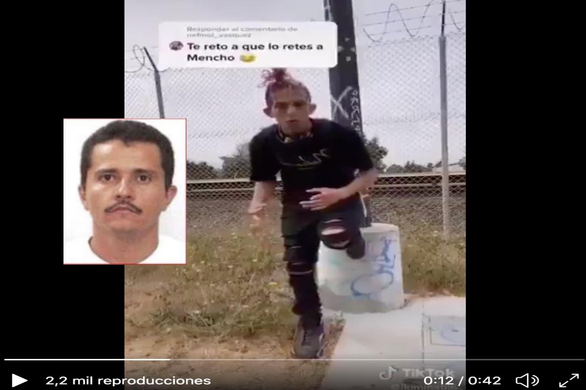 """VIDEO: """"Señor Mencho estoy muy joven para morir"""", se disculpa tiktoker que ofendió al capo."""
