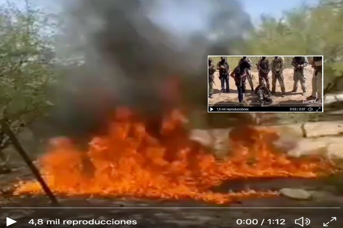 VIDEO: Narcos queman vivo a supuesto integrante de Grupo Delta