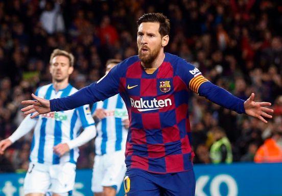 Lionel Messi le anotó de penal el fin de semana a la Real Sociedad.