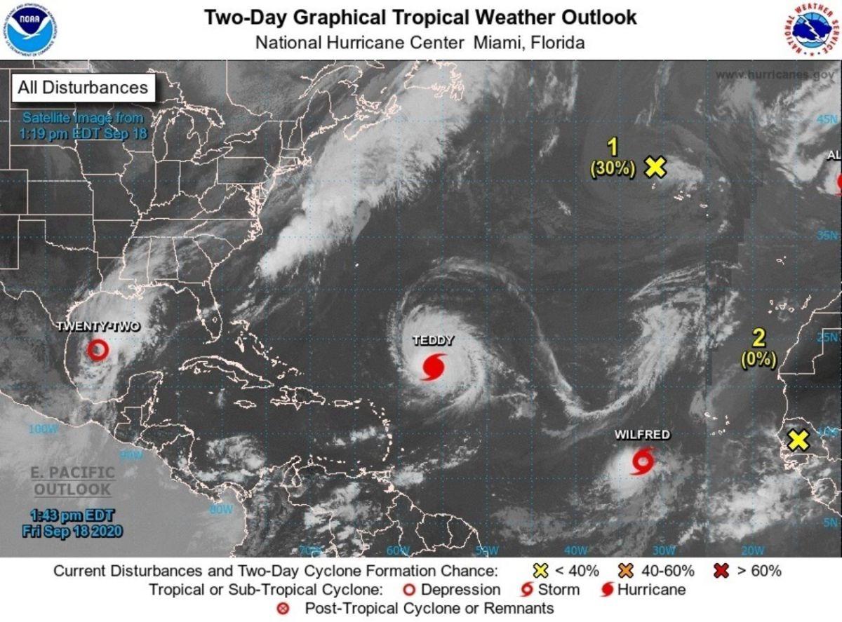 Una nueva tormenta tropical se formó este viernes en medio del Atlántico y tomó el nombre de Wilfred.