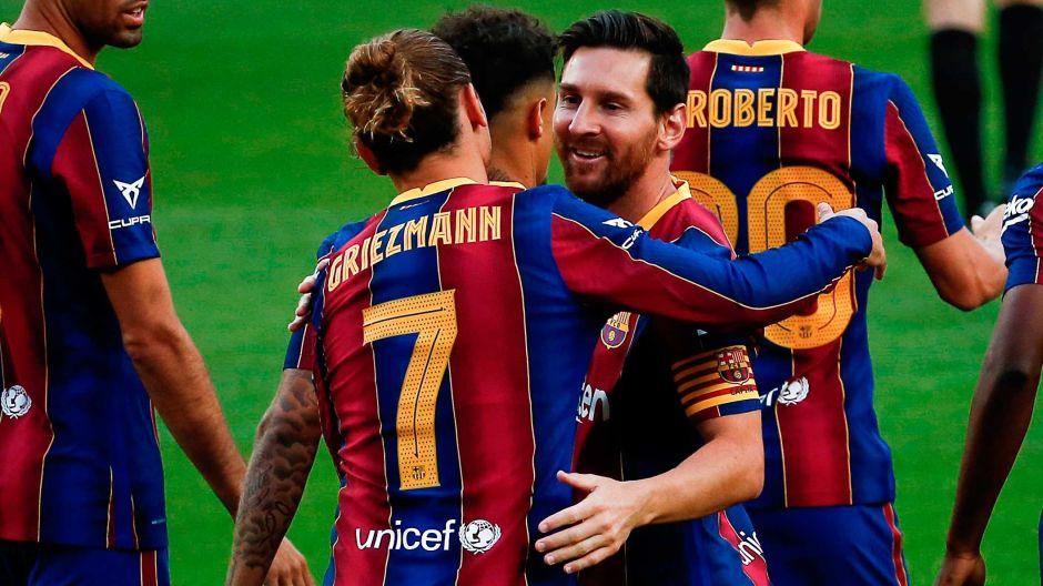 Griezmann se estrenó como goleador esta temporada: un discreto Barcelona ganó al Elche y el trofeo Joan Gamper