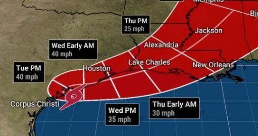 La tormenta tropical Beta ya causa problemas en Texas.
