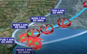 El gobernador de Texas declara en estado de desastre a 29 condados por Beta; el oleaje ya comenzó a causar inundaciones