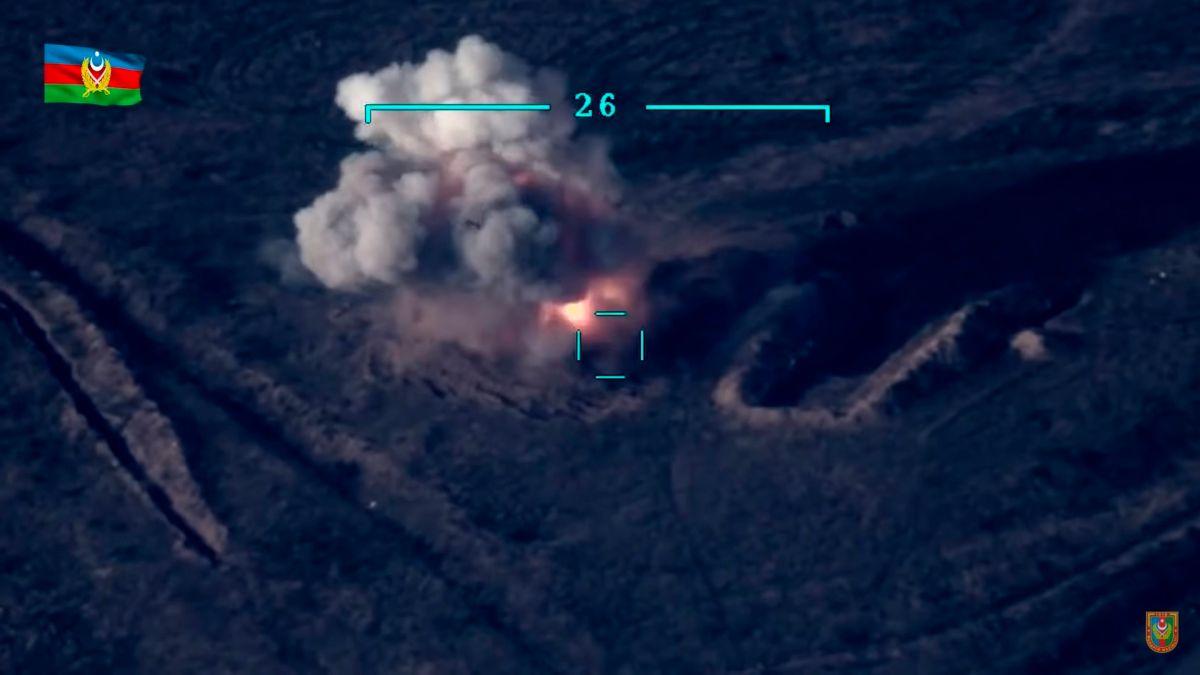 Video del gobierno de Azerbaiyán sobre su bombardeo a Armenia.
