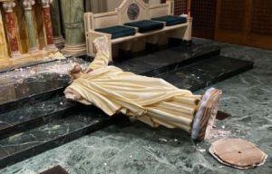 Fotos: Estatua del Sagrado Corazón de Jesús fue destruida en Texas; el acto de vandalismo ocurrió en una iglesia católica