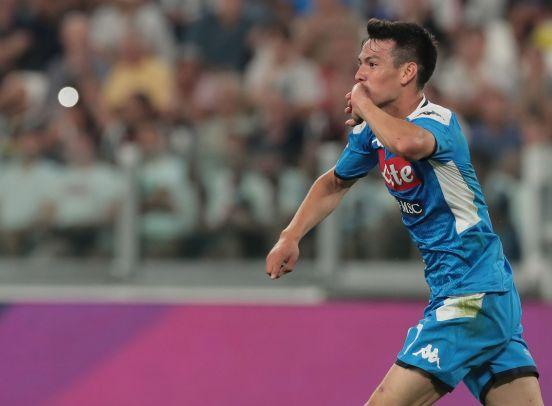 """Hirving """"Chucky"""" Lozano marcó gol en su presentación con el Napoli."""