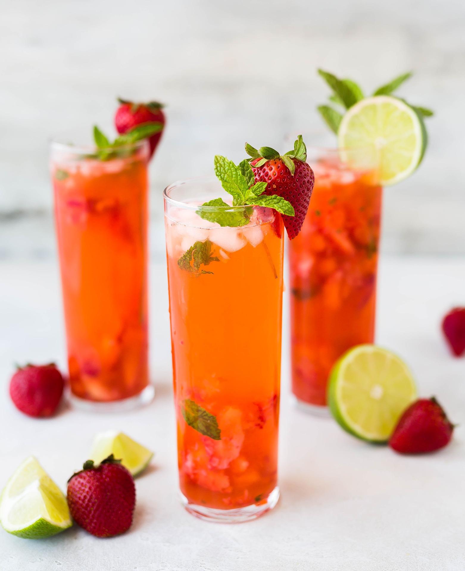 Bebida de fresas.