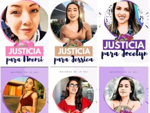 Justicia para Alondra, Nayeli, Caramelo y Jessica; activistas protestan por feminicidios en México
