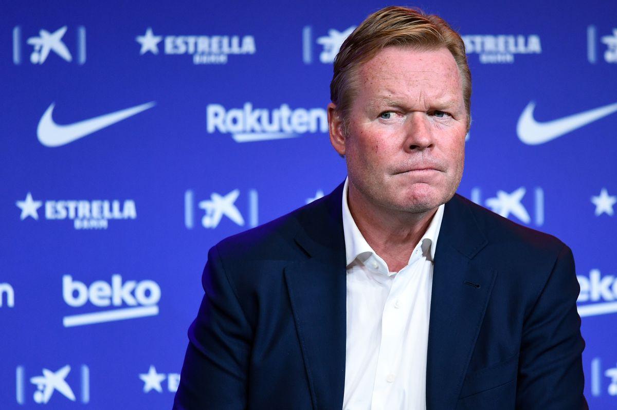 Ronaldo Koeman se mostró molesto por las preguntas de los periodistas que cuestionaban su continuidad al mando del Barcelona.