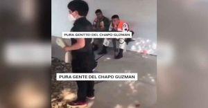 """VIDEO: """"Pura gente de 'El Chapo'"""", advierte niño a militares en Sinaloa"""