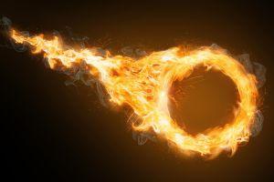 Intenta cruzar aro de fuego y sufre grave accidente