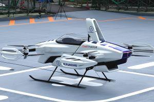 Un auto volador es probado por primera vez en Japón y con una persona a bordo