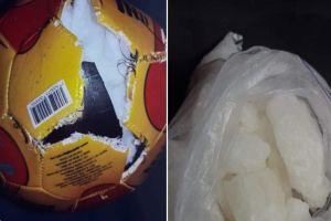¡Insólito! detienen a hombre que transportaba droga dentro de balón de futbol