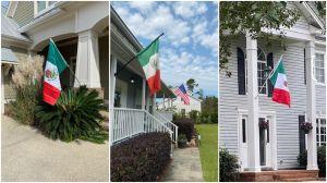 Por qué una calle en Carolina del Norte se llenó de banderas mexicanas
