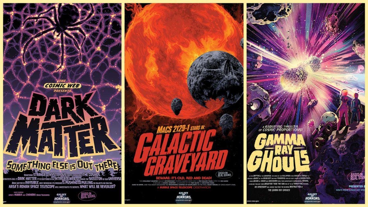 """Halloween en el espacio: los afiches de la NASA que describen las """"espeluznantes"""" condiciones extremas del cosmos"""