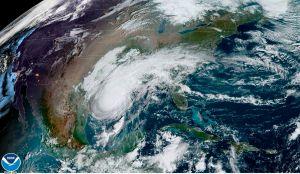 El huracán Delta llegó a tierra cerca de Creole, en Louisiana