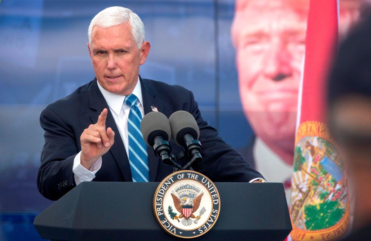 """Pence en Miami: """"Cuatro años más"""" de Trump para mantener sanciones a gobiernos socialistas"""