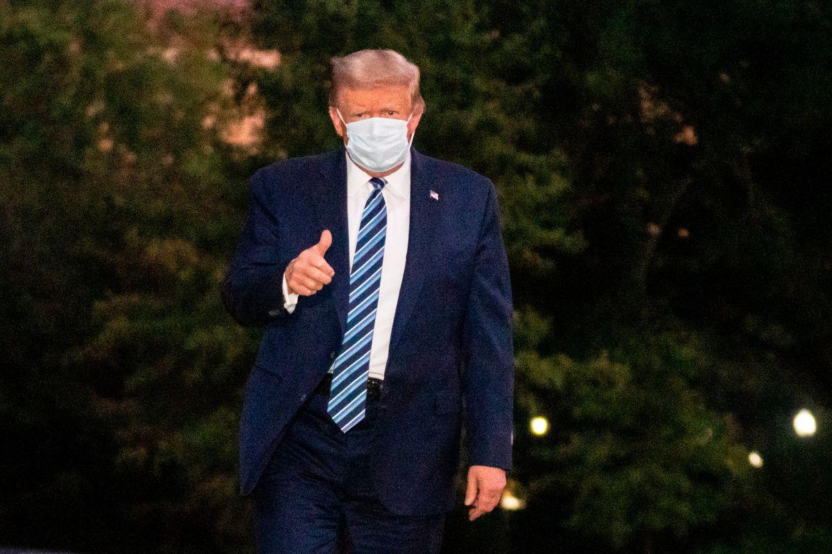 Trump dio negativo a COVID-19 en una prueba realizada antes del debate con Biden