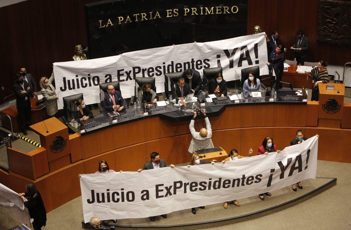 Avanza en Senado iniciativa de AMLO para enjuiciar a expresidentes