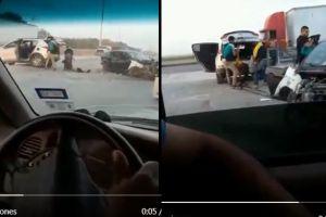 Captan en video cómo sicarios del Cártel del Golfo roban cadáver de cómplice