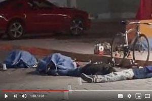 FOTOS: Matan a 6 en Puebla, dejan los cuerpos junto a auto deportivo en Puebla