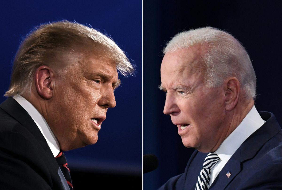 Los eventos con electores de Trump y Biden los hicieron enfrentar preguntas difíciles