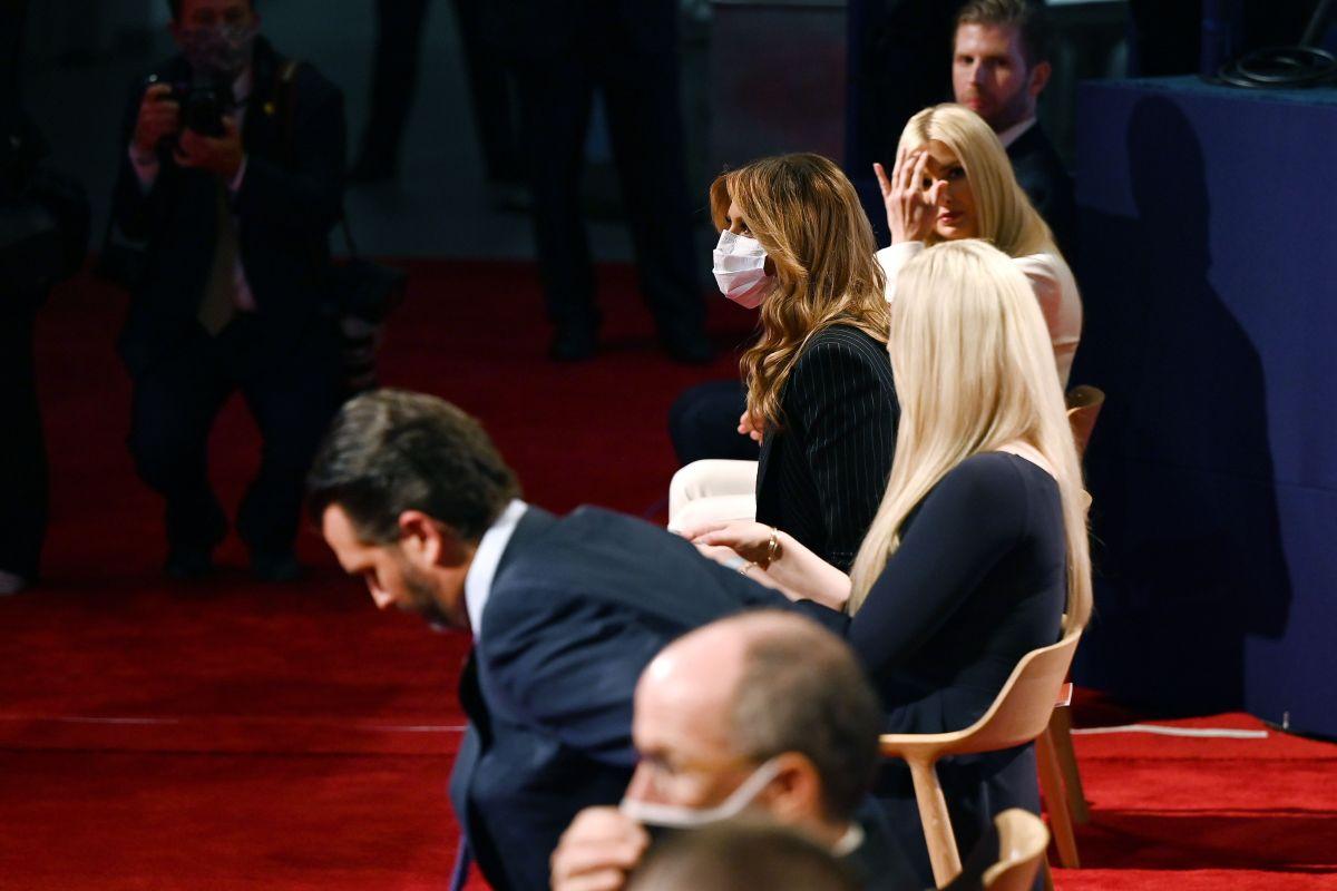 Familia Trump se negó a llevar mascarilla en el primer debate presidencial, pese a las reglas del lugar