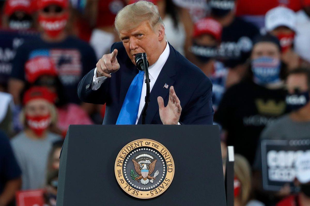 """""""Me gustan los hispanos"""": Trump busca el voto latino en Nevada, donde Biden le lleva la delantera"""