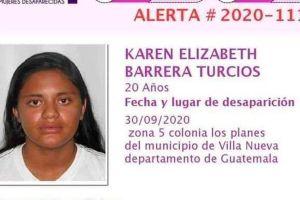 Piden ayuda para encontrar a seleccionada guatemalteca desaparecida