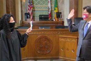 Kevin De León promete ser 'la voz de los sin voz' al convertirse en concejal de L.A.