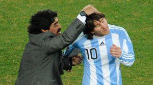 Todo mundo felicitó a Maradona excepto Messi