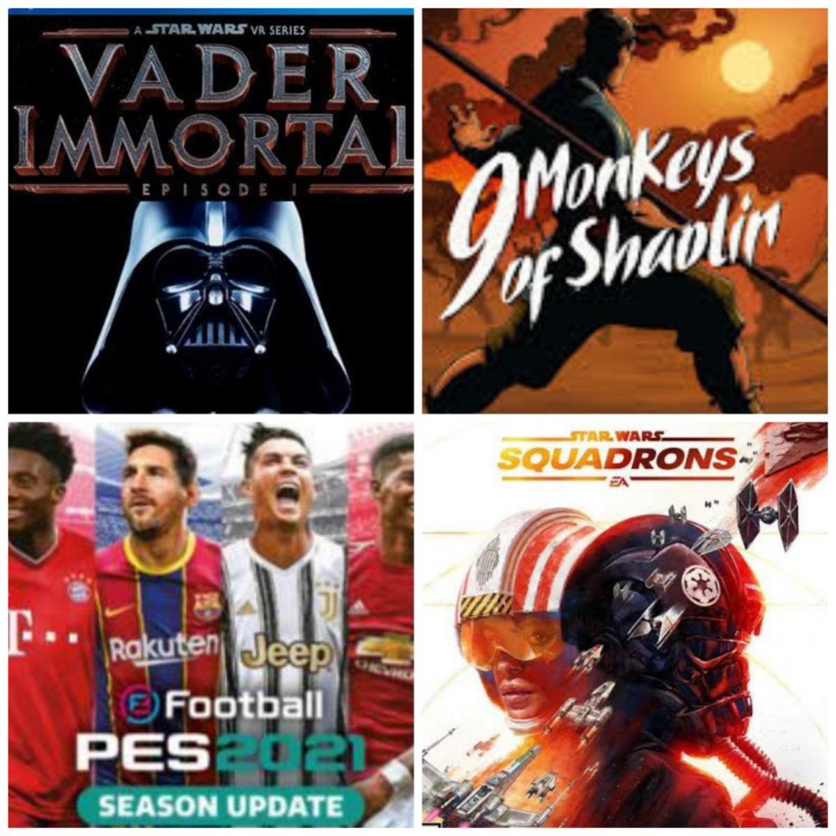 Reseña: Vader Immortal A Star Wars VR Series, Star Wars: Squadrons, eFootball PES 2021 y 9 Monkeys of Shaolin.