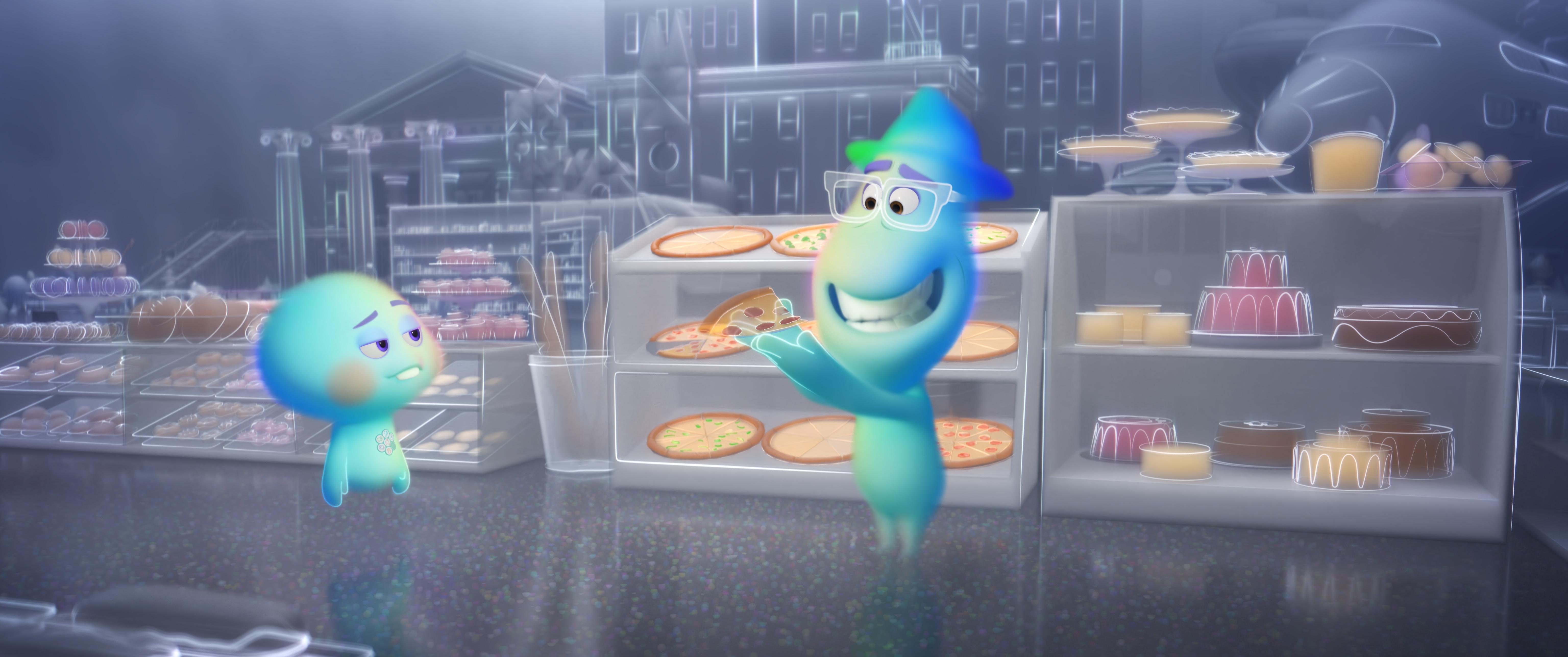 """Las almas de Joe y 22 en """"Soul"""". / Foto: Pixar · Disney"""