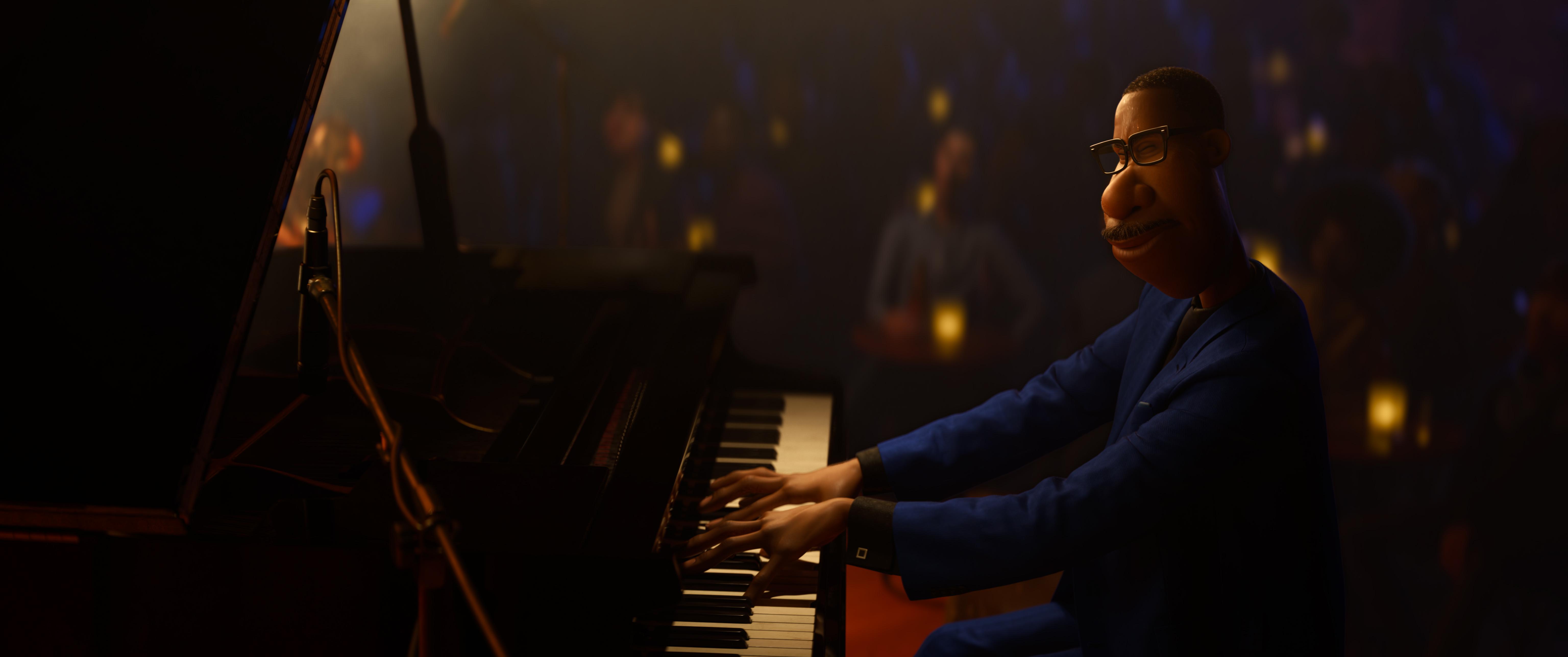 """Joe Garner al piano en """"Soul""""."""