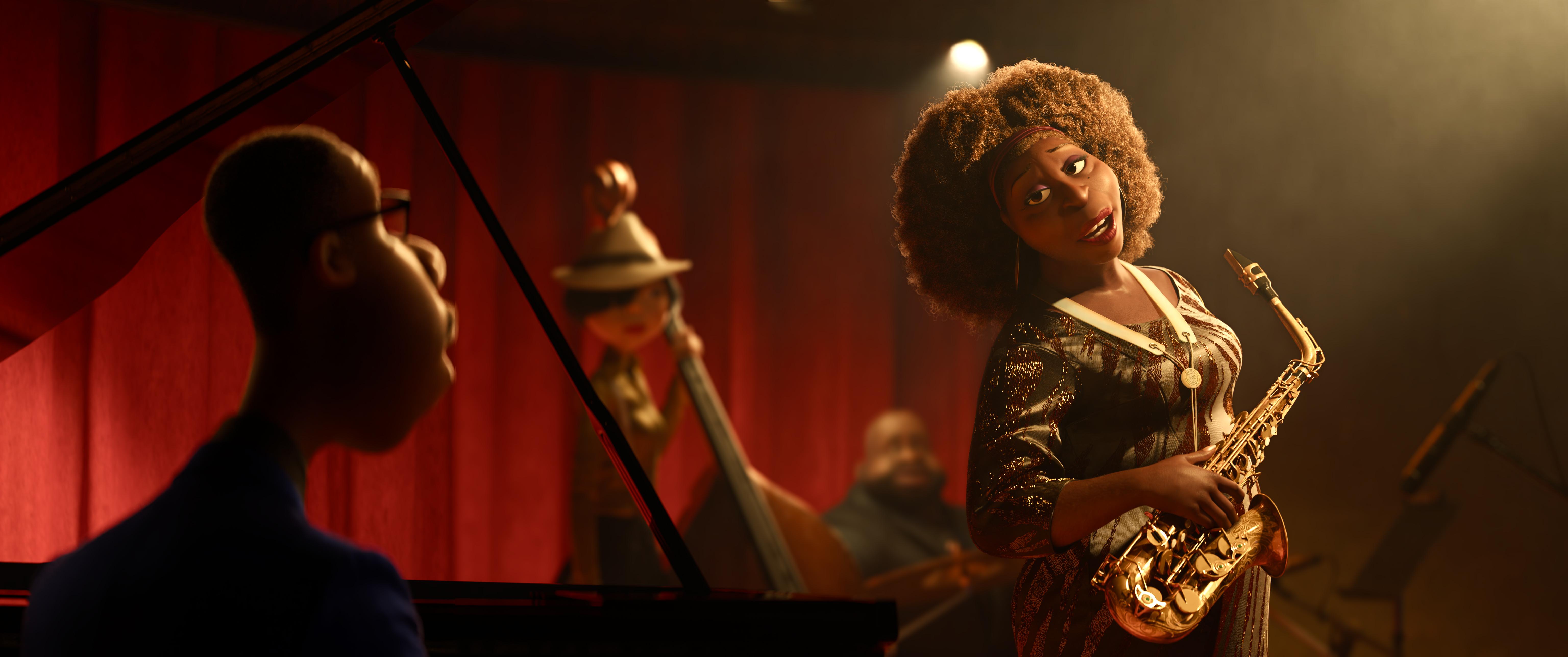 Al profesor Joe Gardner le llega la oportunidad de su vida de tocar en el cuarteto de jazz de la gran Dorothea Williams. / Foto: Disney - Pixar.