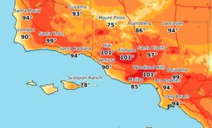 Los Ángeles recibe una nueva ola de calor del miércoles al viernes con temperaturas de hasta 100º F