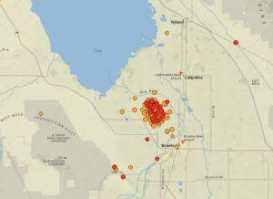 Enjambre de temblores en Condado Imperial: más de 700 y siete fueron de al menos 4.0 grados