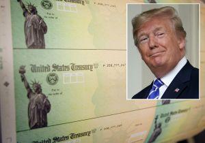 ¿Trump canceló nuevo cheque de $1,200 porque exigía imprimir su nombre en él?