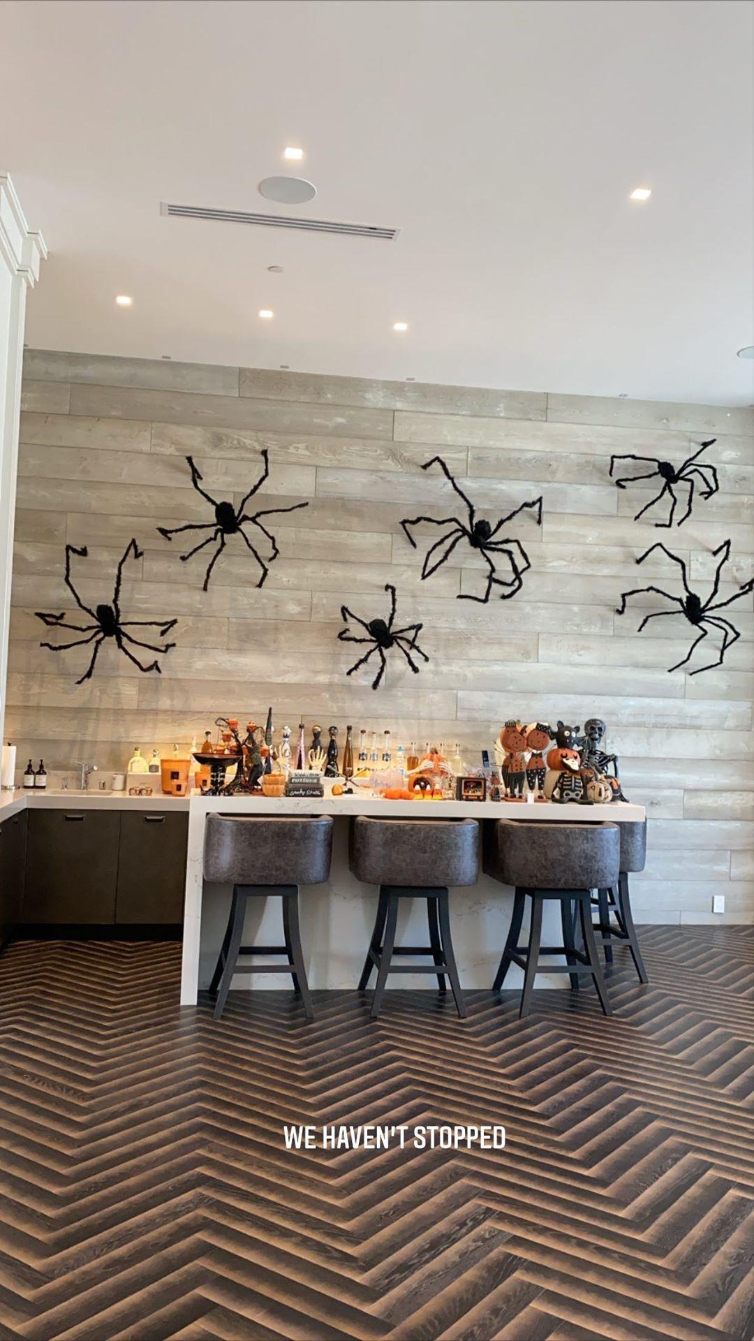 Arañas pared