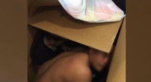 Descubren a 13 inmigrantes escondidos en cajas de cartón durante una revisión en una carretera de Laredo
