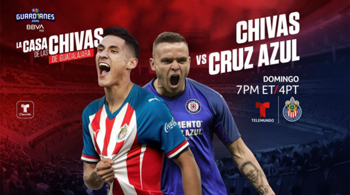 Chivas de Guadalajara vs Cruz Azul en La Liga MX Guard1anes 2020: horario y tv