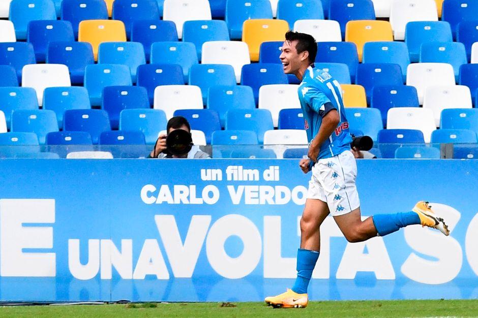 """El """"Chucky"""" sigue endiablado: Lozano anotó otro doblete en la goleada del Napoli al Atalanta"""