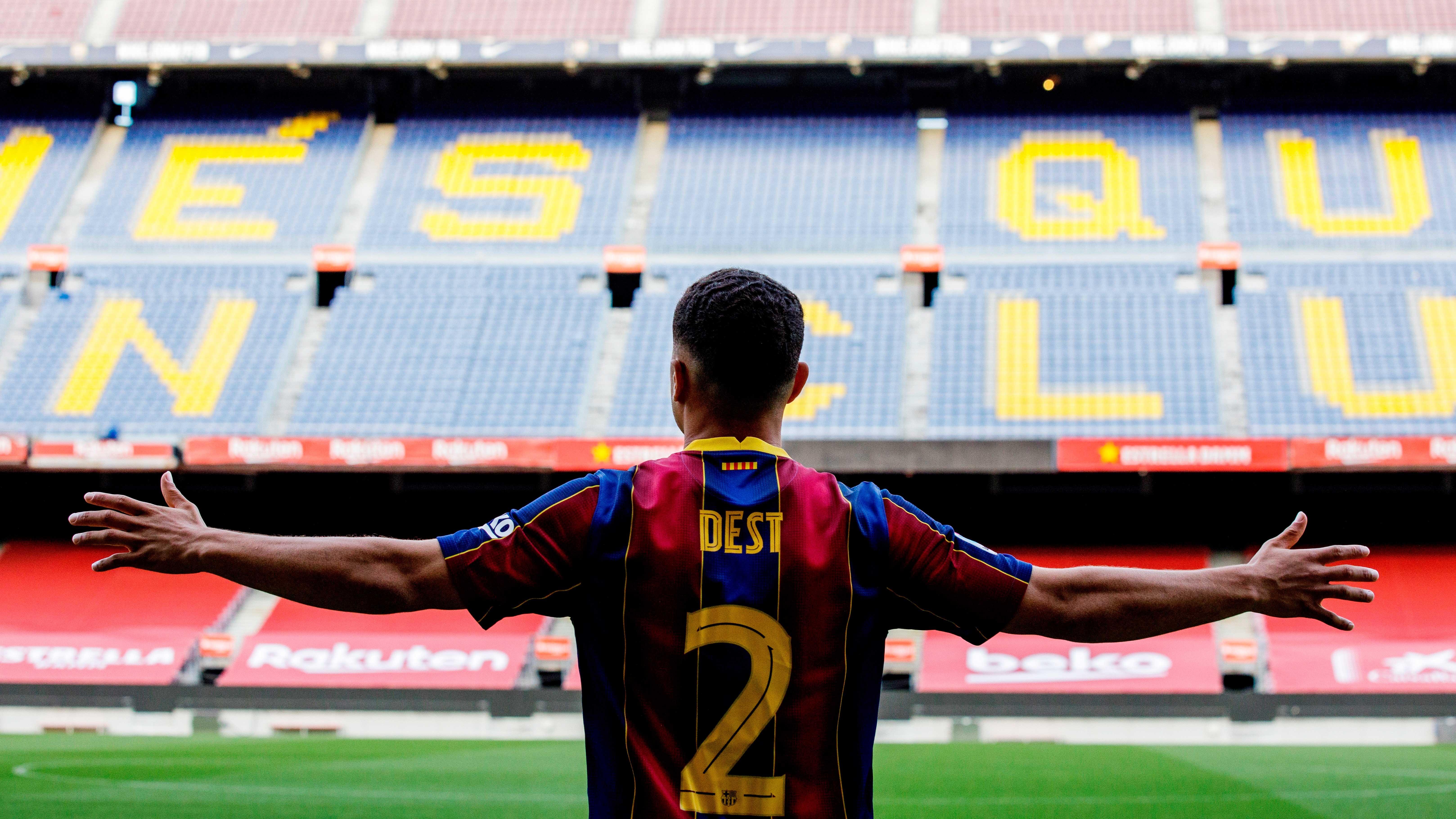 """""""Me quedaré sin oxígeno por Messi"""": Sergiño Dest promete darlo todo por el Barcelona - La Opinión"""