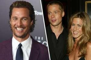 Matthew McConaughey habla sobre 'tensión sexual' entre Brad Pitt y Jennifer Aniston durante reunión